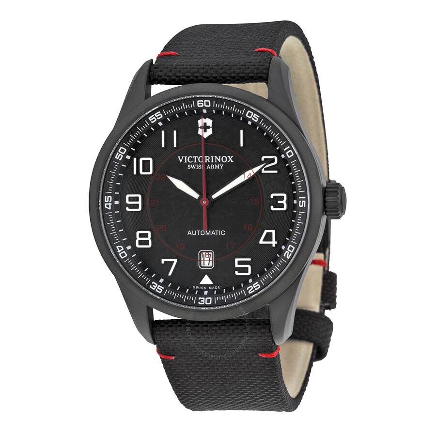 Victorinox airboss automatic black dial black nylon men 39 s watch 241720 airboss victorinox for Victorinox watches