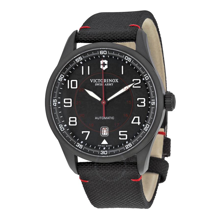 871f6412 Victorinox Airboss Automatic Black Dial Black Nylon Men's Watch 241720 ...