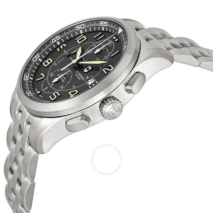 f75b4996dd4 ... Victorinox Airboss Automatic Chronograph Black Dial Stainless Steel  Men s Watch 241620 ...
