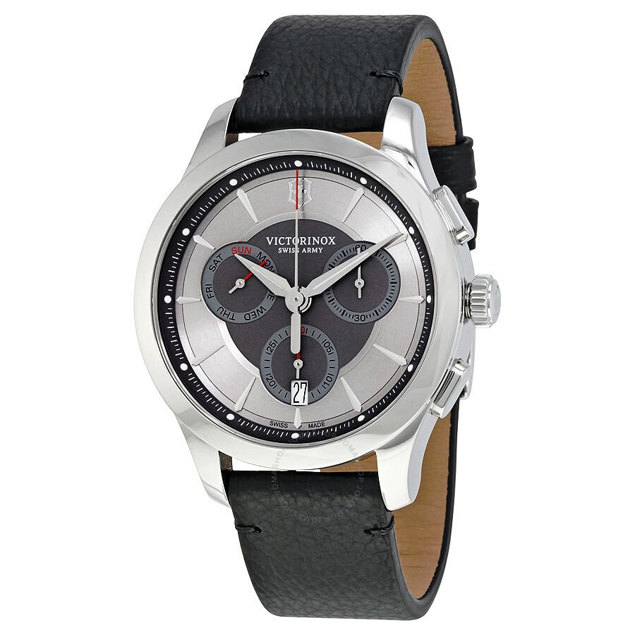 2a2f15dbf3f9c Victorinox Swiss Army Alliance Chronograph Silver Dial Men's Watch 241748  ...