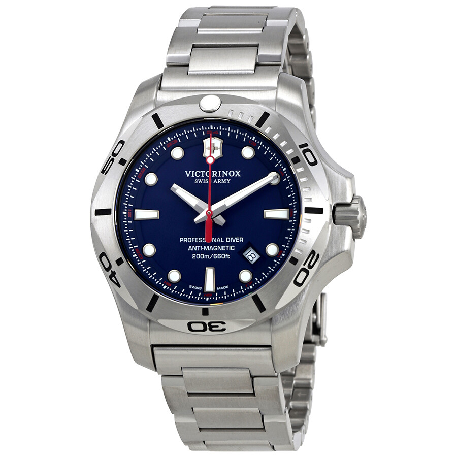 Victorinox i n o x blue dial men 39 s stainless steel watch 241782 inox victorinox watches for Victorinox watches