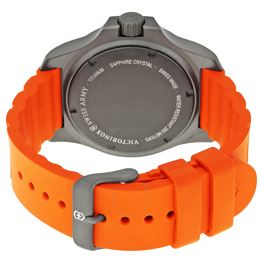 victorinox i n o x grey dial men s orange rubber men s watch victorinox i n o x grey dial men s orange rubber men s watch 241758