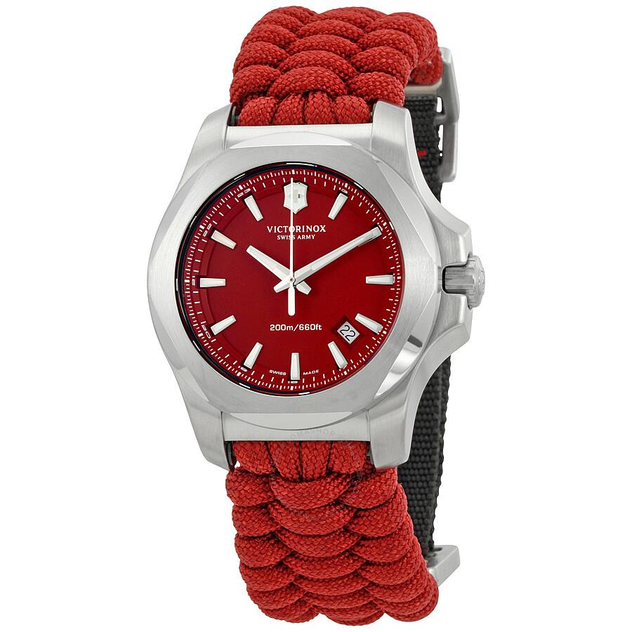 Victorinox I.N.O.X. Paracord Red Dial Men s Watch 241744 - Inox ... beb1d7a699cb