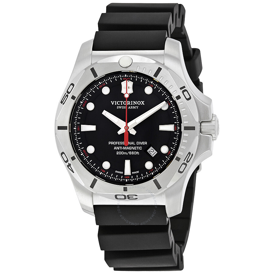 Victorinox I.N.O.X. Professional Diver Black Dial Men s Watch 241733 ... 30397fd7b