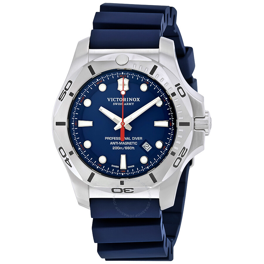 Victorinox i n o x professional diver blue dial men 39 s watch 241734 inox victorinox for Victorinox watches