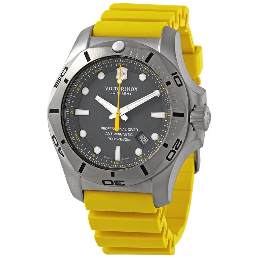 Victorinox I.N.O.X. Professional Diver Anti-Magnetic Grey Dial Men's Watch 241844