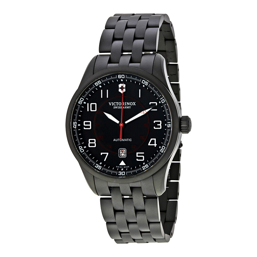 Victorinox Airboss Black PVD Stainless Steel Automatic Men's Watch 241740