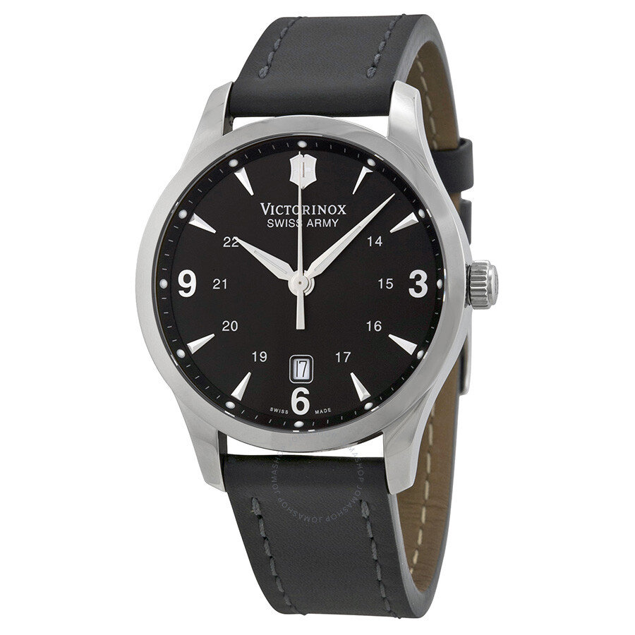 Victorinox swiss army alliance black dial black strap men 39 s watch 241474 alliance victorinox for Victorinox watches