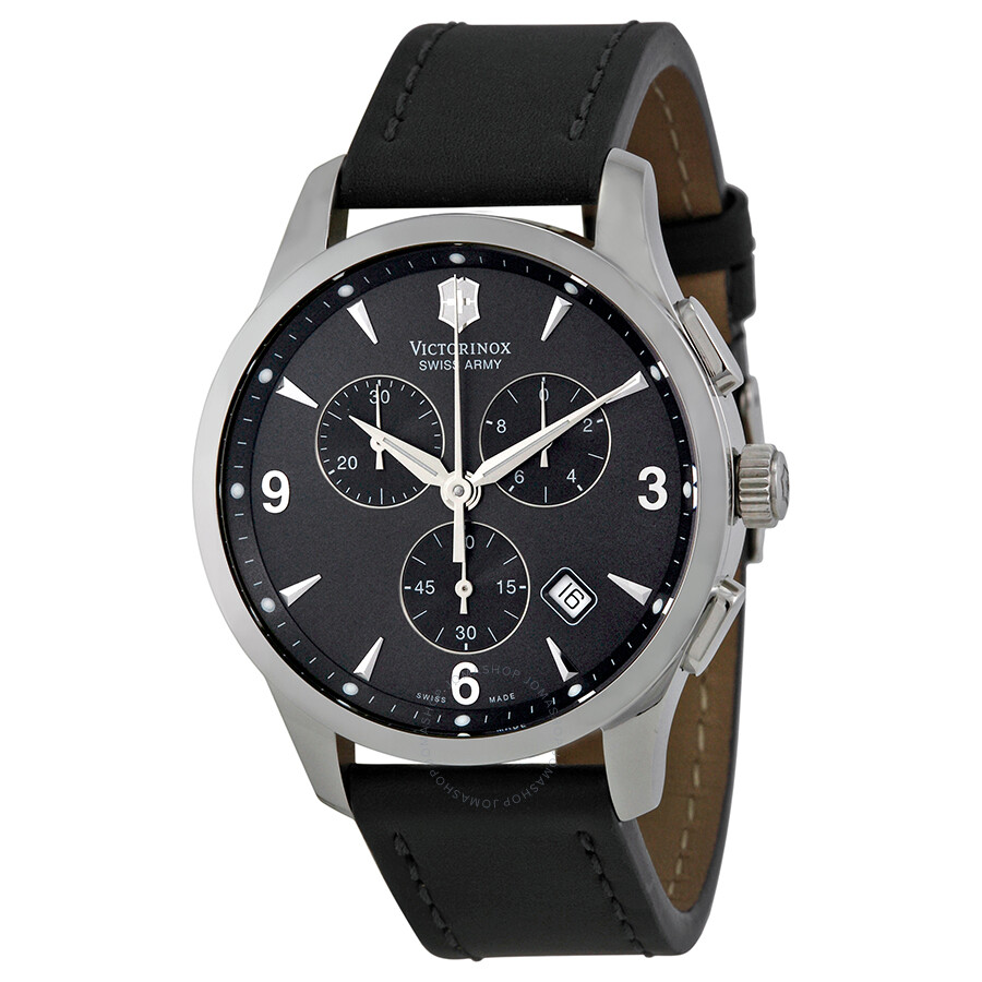 Victorinox swiss army alliance chronograph black strap men 39 s watch 241479 alliance for Victorinox watches