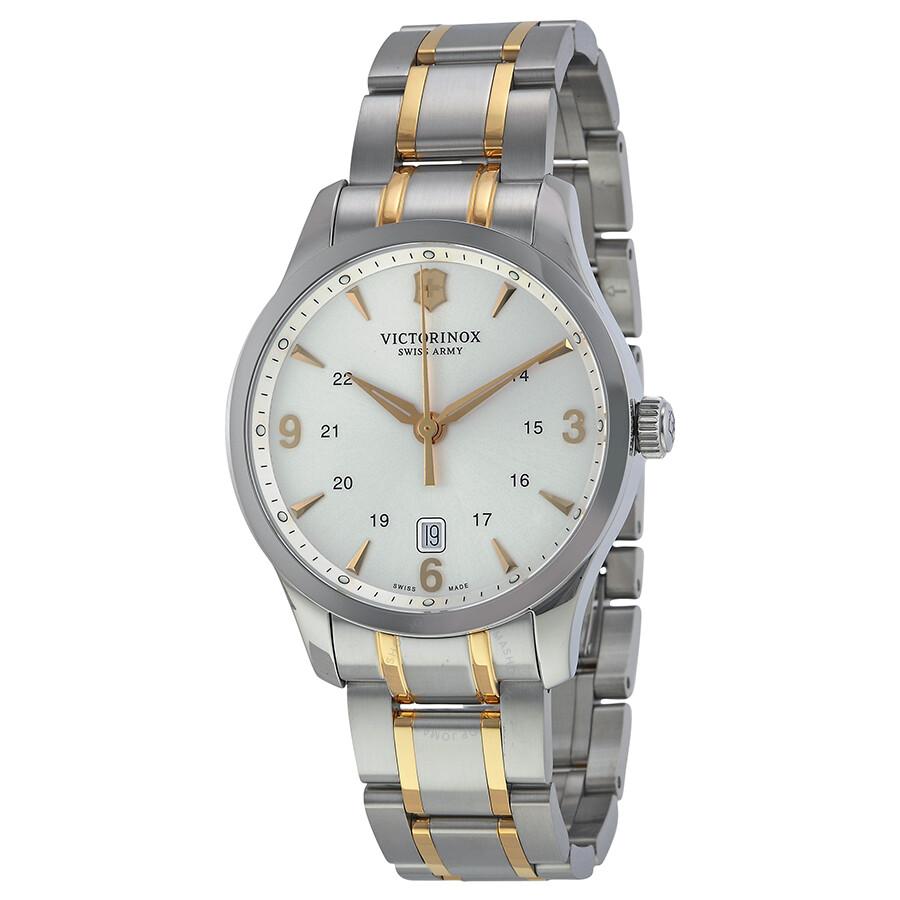 faa7d077b Victorinox Swiss Army Alliance Silver Dial Stainless Steel Men's Watch  241477 ...