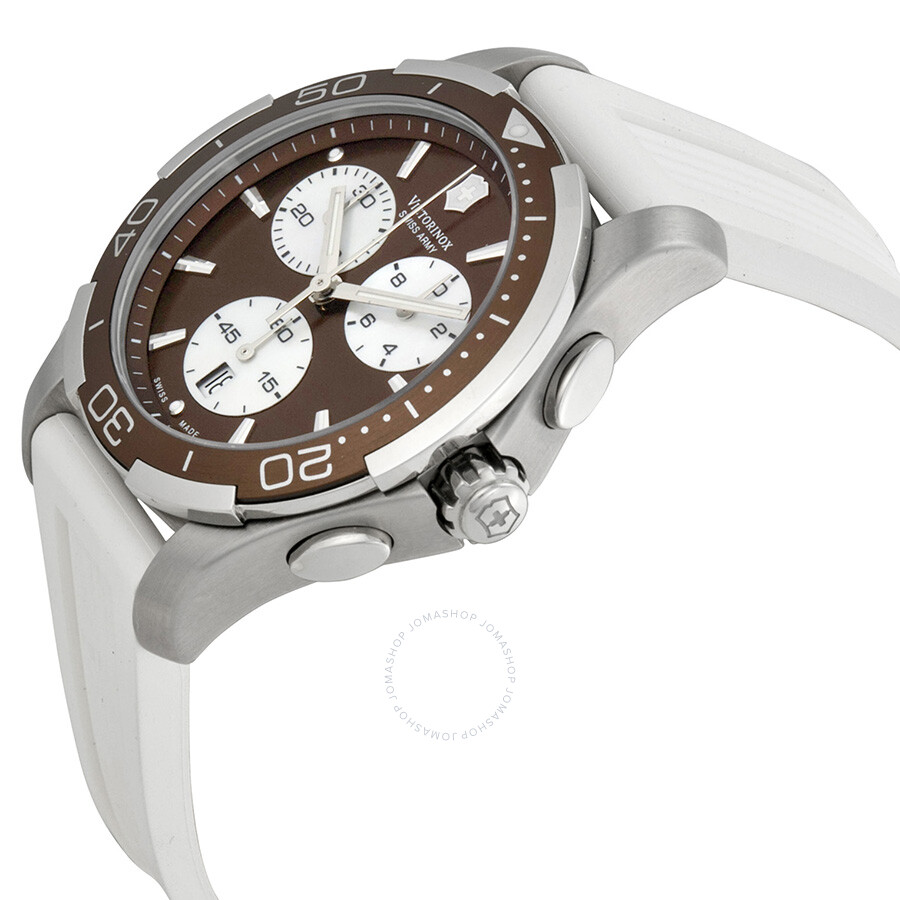 Alliance 241503 Swiss Army Watch Sport Chronograph Victorinox Brown Ladies Dial u1TKJ3Flc