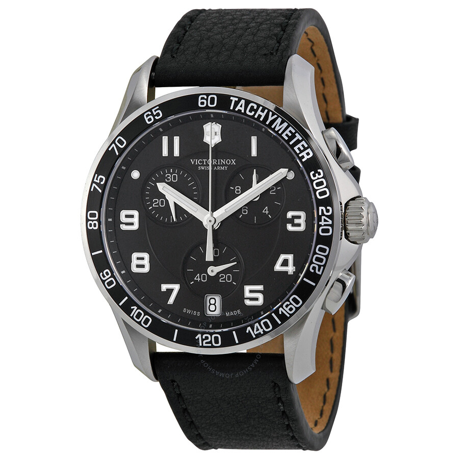 Victorinox swiss army chrono classic black strap men 39 s watch 241493 chrono classic for Victorinox watches