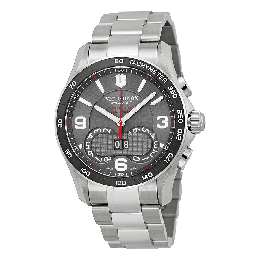 Victorinox swiss army chrono classic dark grey dial men 39 s watch 241618 chrono classic for Victorinox watches