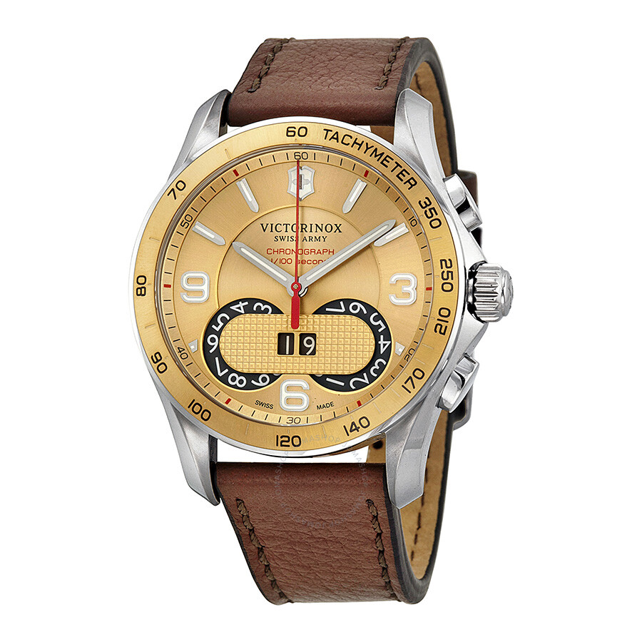 Victorinox swiss army chrono classic gold dial men 39 s watch 241617 chrono classic victorinox for Victorinox watches