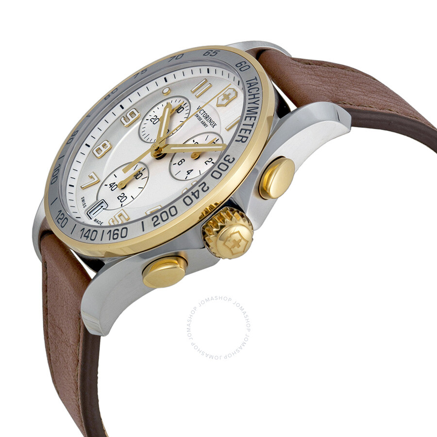victorinox swiss army classic chronograph silver dial men. Black Bedroom Furniture Sets. Home Design Ideas