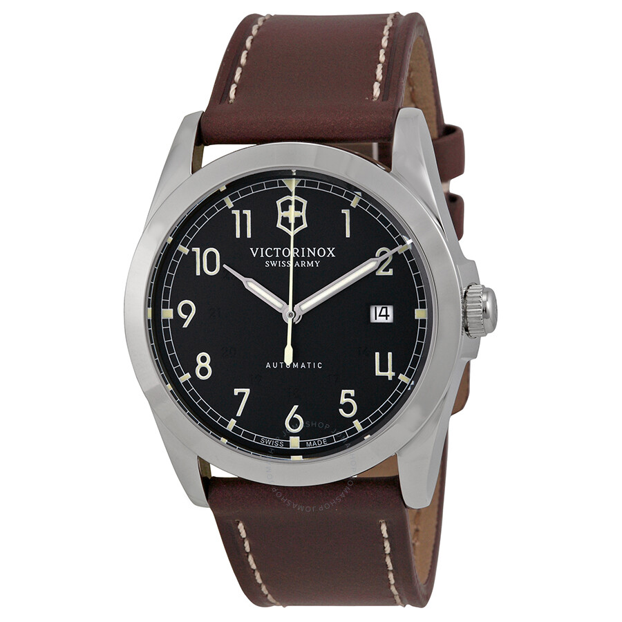 Victorinox swiss army infantry automatic black dial men 39 s watch 241565 infantry victorinox for Victorinox watches