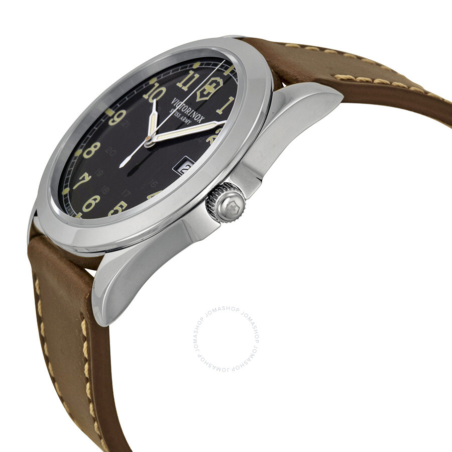 ... Victorinox Swiss Army Infantry Black Dial Men's Watch 241563 ...