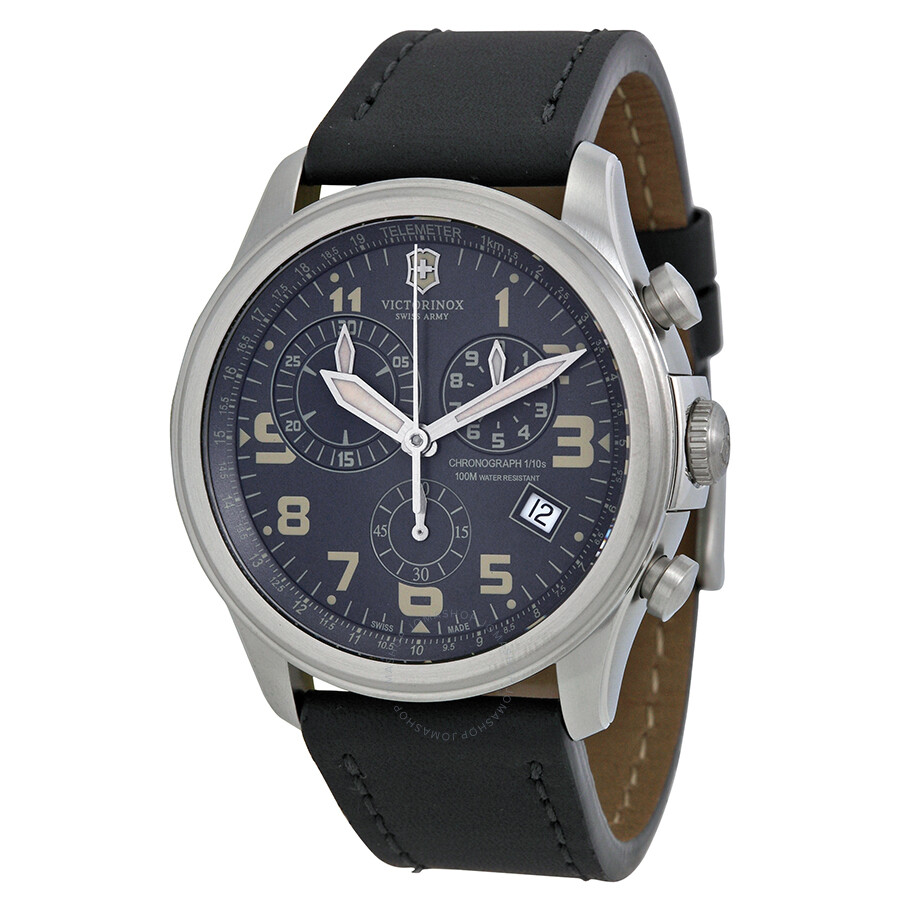 Victorinox swiss army infantry vintage chronograph gray dial men 39 s watch 241578 infantry for Victorinox watches