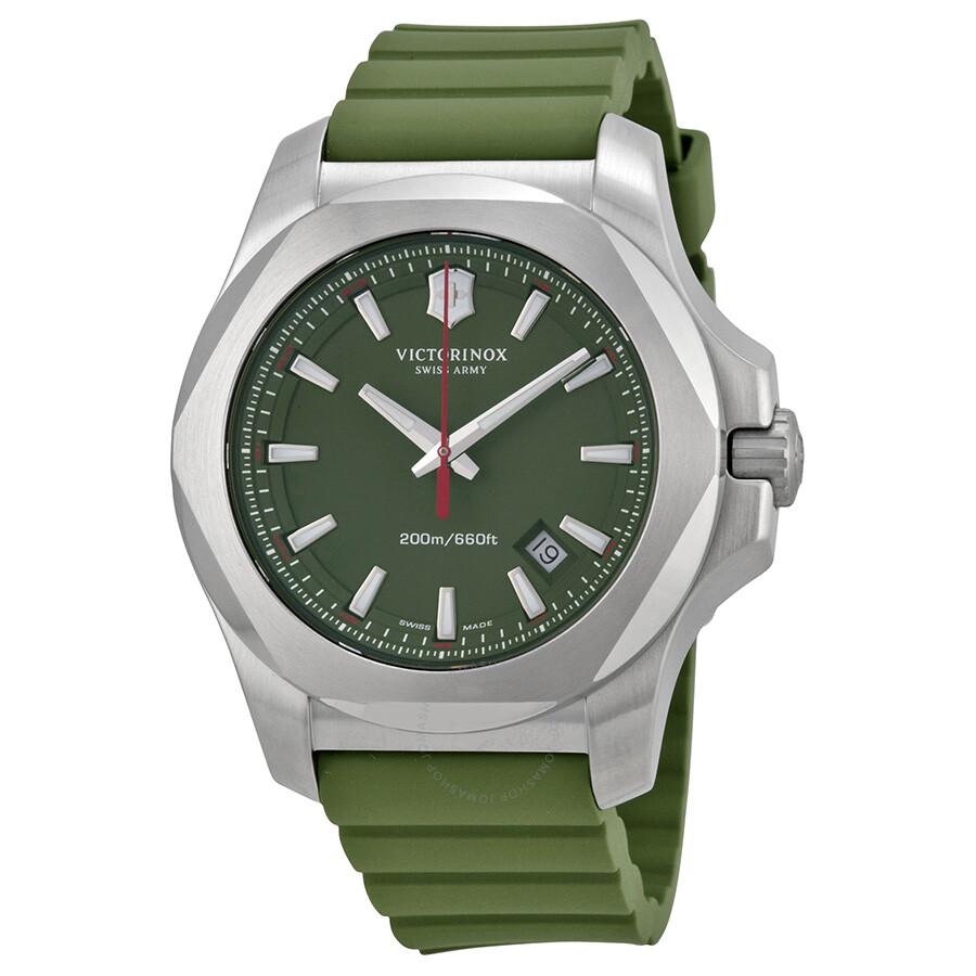 victorinox swiss army inox green dial green rubber men s watch victorinox swiss army inox green dial green rubber men s watch 241683 1