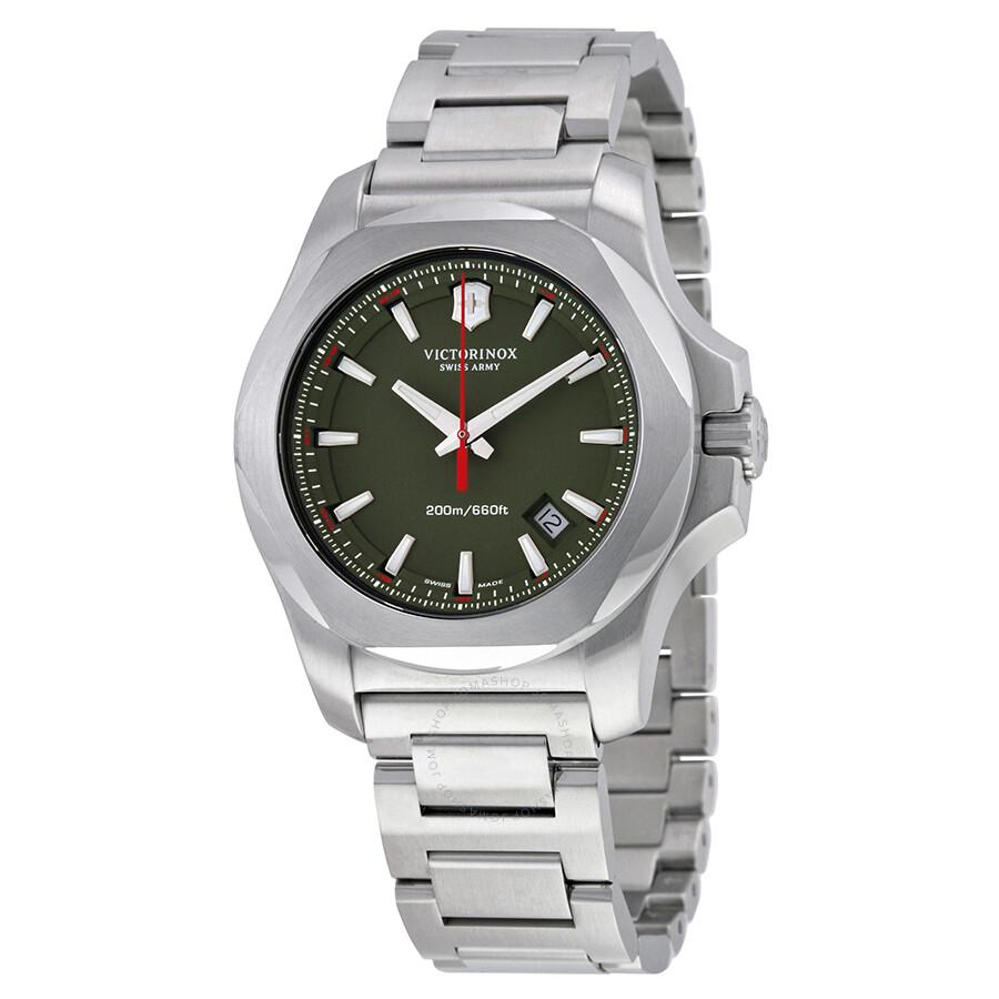 victorinox swiss army inox green dial stainless steel men s watch victorinox swiss army inox green dial stainless steel men s watch 241725 1