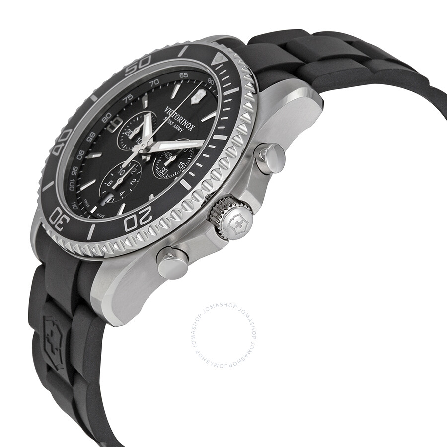 6e6f177a378 ... Victorinox Swiss Army Maverick Chronograph Black Dial Black Rubber  Men s Watch 241696 ...