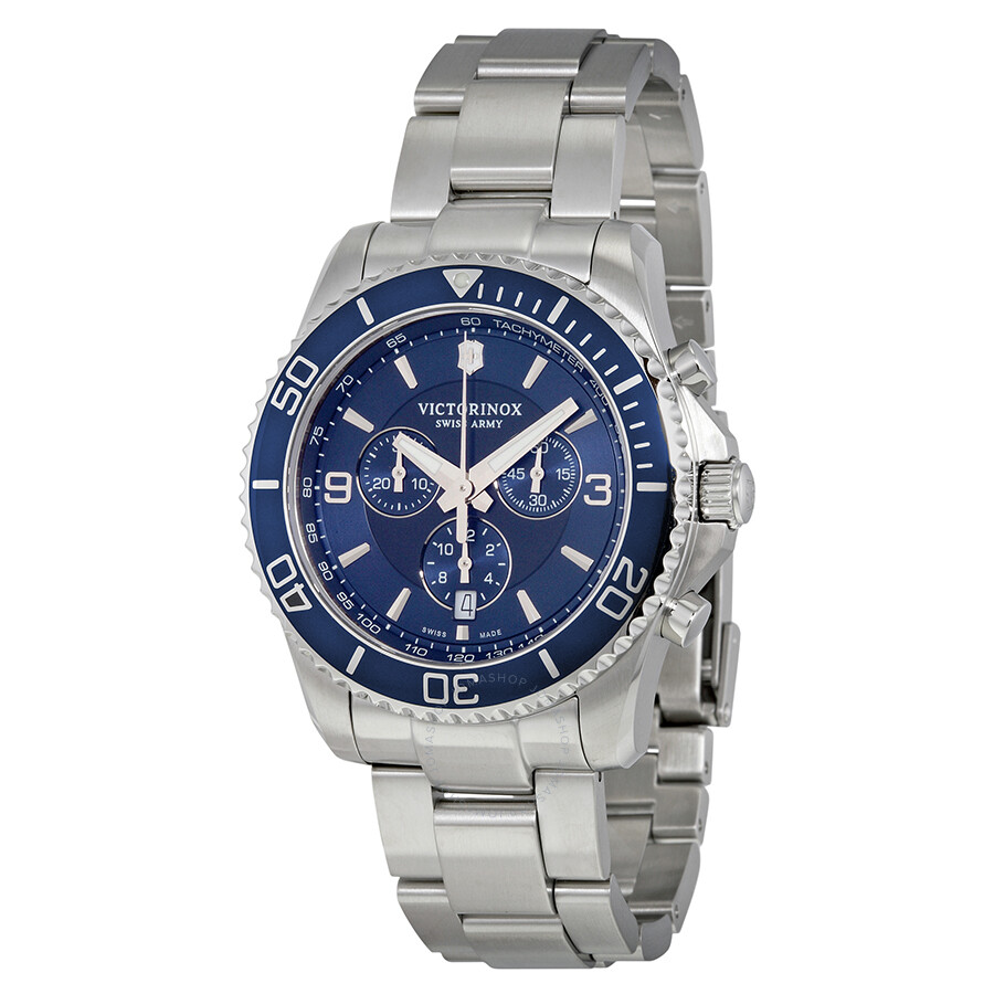 Victorinox swiss army maverick chronograph blue dial men 39 s watch 241689 maverick victorinox for Victorinox watches