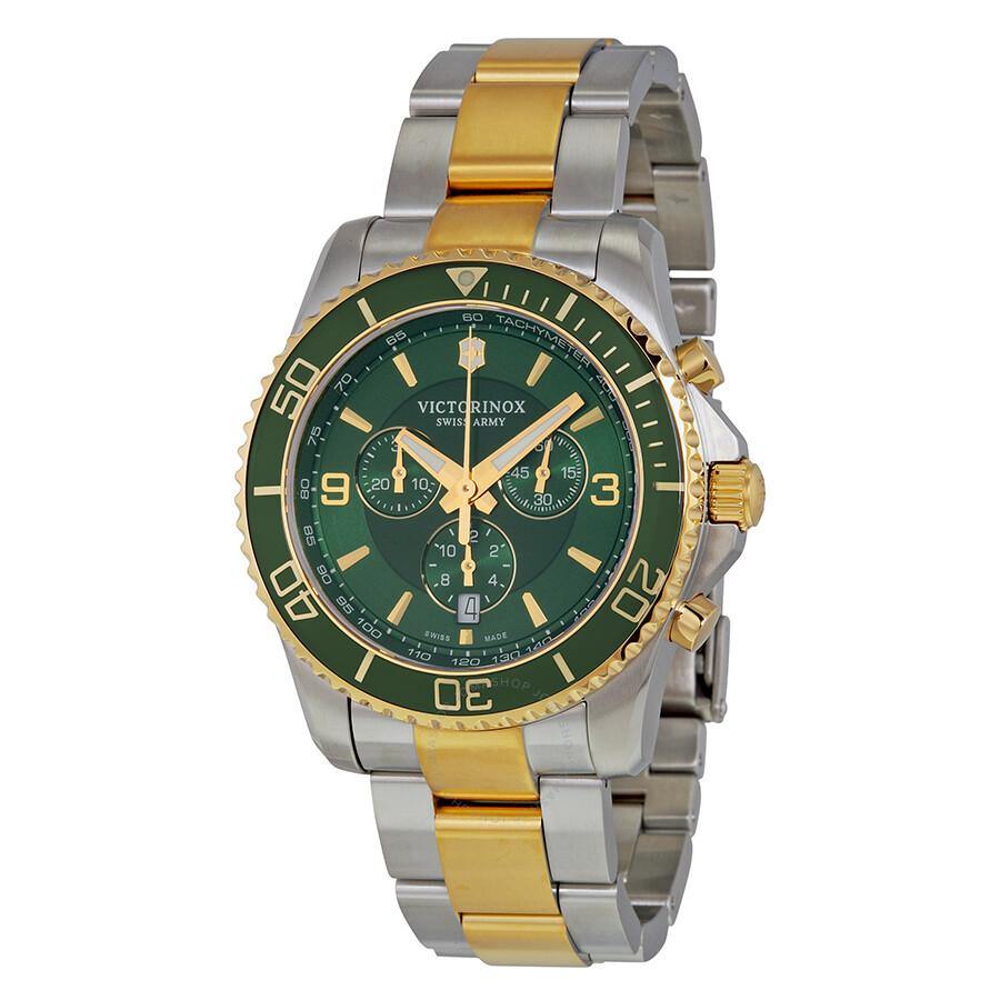 victorinox swiss army maverick chronograph green two