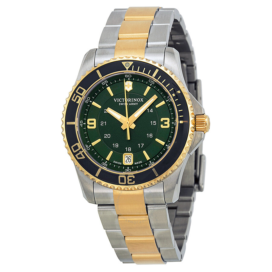 Victorinox swiss army maverick gs green dial ladies watch 241612 maverick victorinox for Victorinox watches