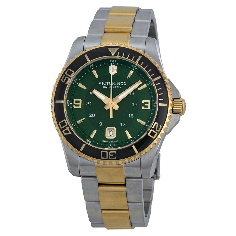 Victorinox swiss army maverick gs green dial men 39 s watch 241605 maverick victorinox for Victorinox watches