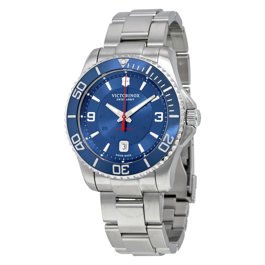 Victorinox swiss army maverick mechanical blue dial men 39 s watch 241706 maverick victorinox for Victorinox watches