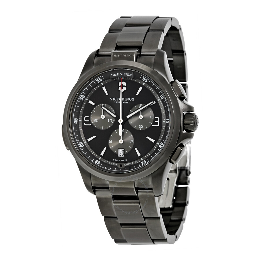 Victorinox swiss army night vision chronograph men 39 s watch 241730 night vision victorinox for Victorinox watches