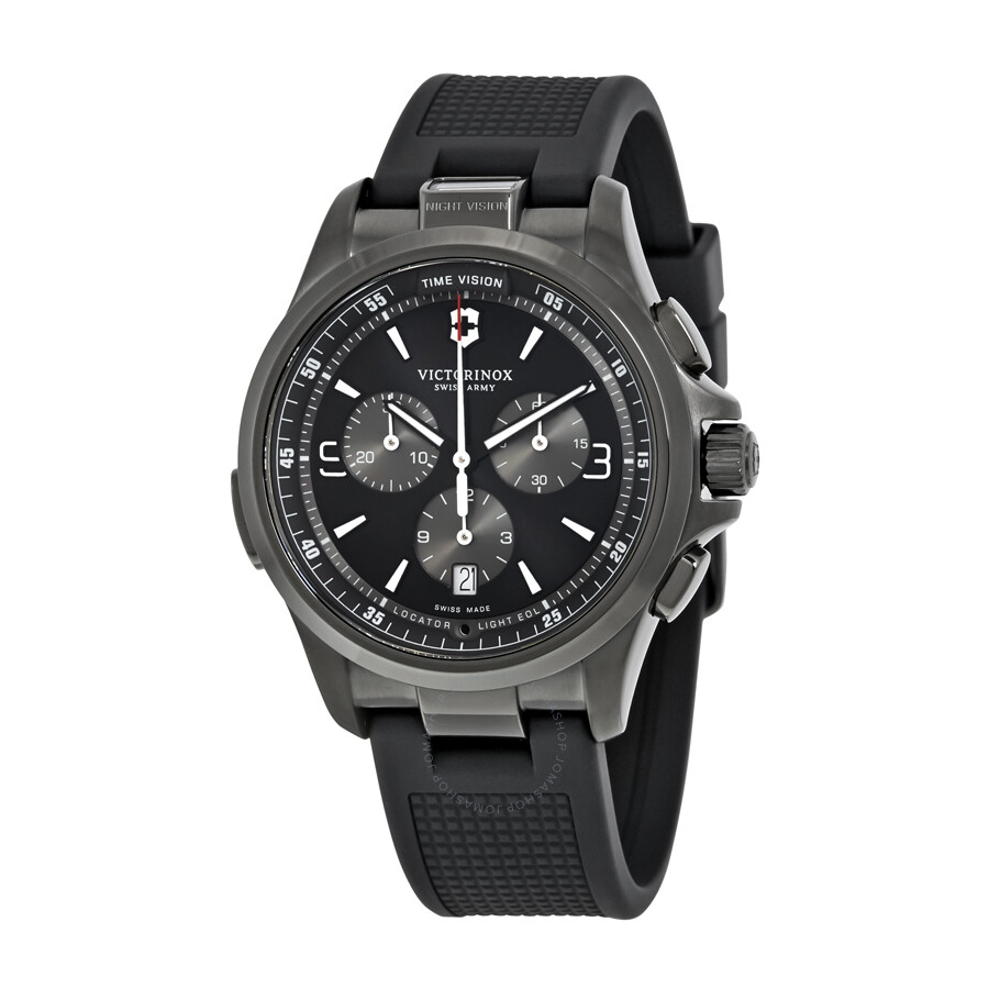 Victorinox swiss army night vision chronograph men 39 s watch 241731 night vision victorinox for Victorinox watches