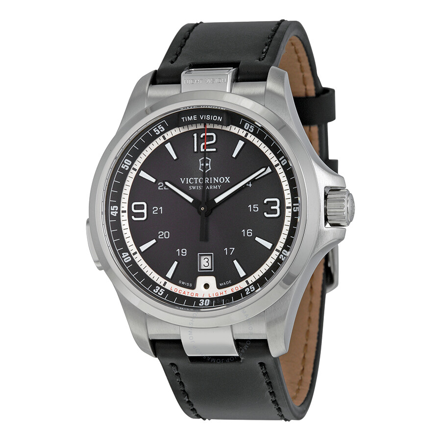 Victorinox swiss army night vision dark grey dial men 39 s watch 241570 night vision victorinox for Victorinox watches