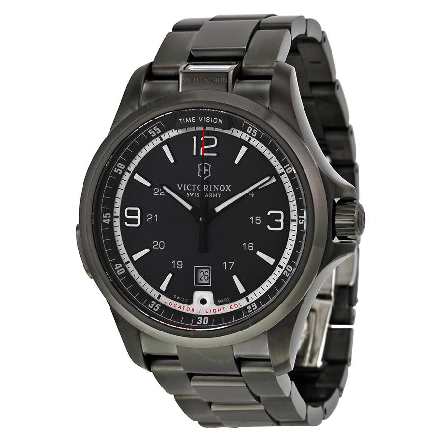 913caf723fea Victorinox Swiss Army Night Vision Dark Grey Dial Men's Watch 241665