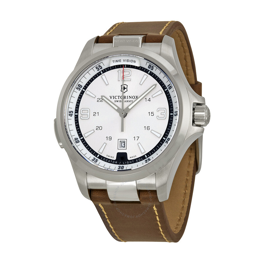 80a5c38dc8c0 Victorinox Swiss Army Night Vision Silver Dial Men's Watch 241570