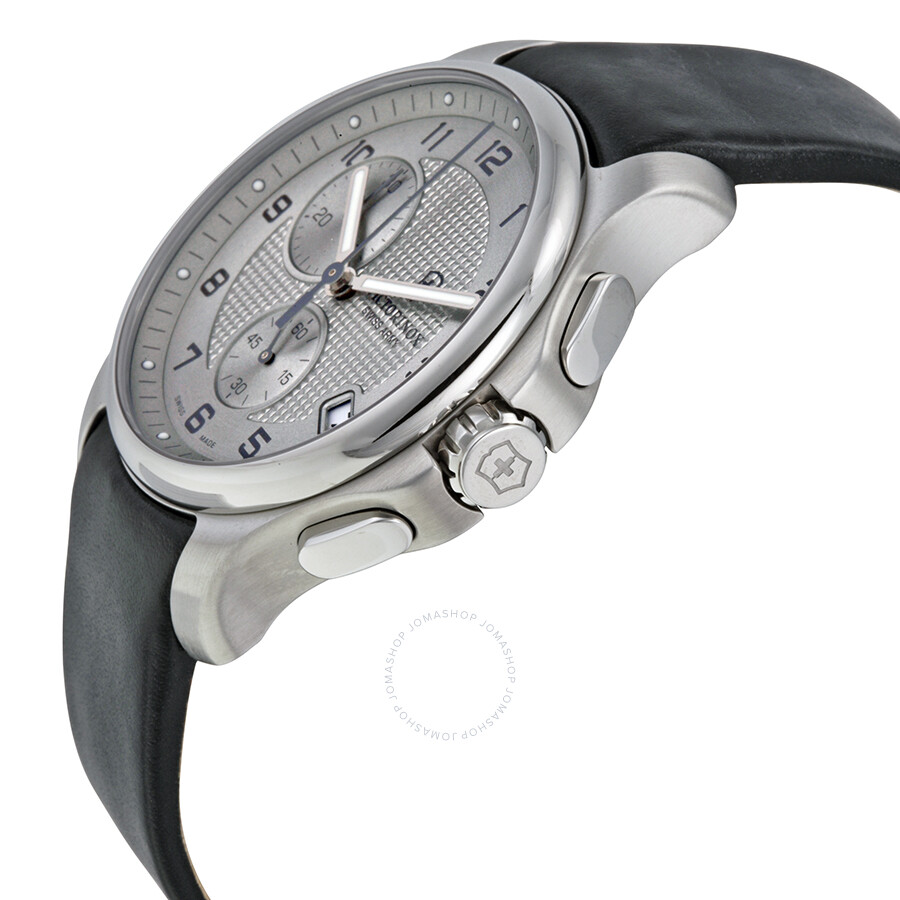 victorinox swiss army officers chronograph grey dial black