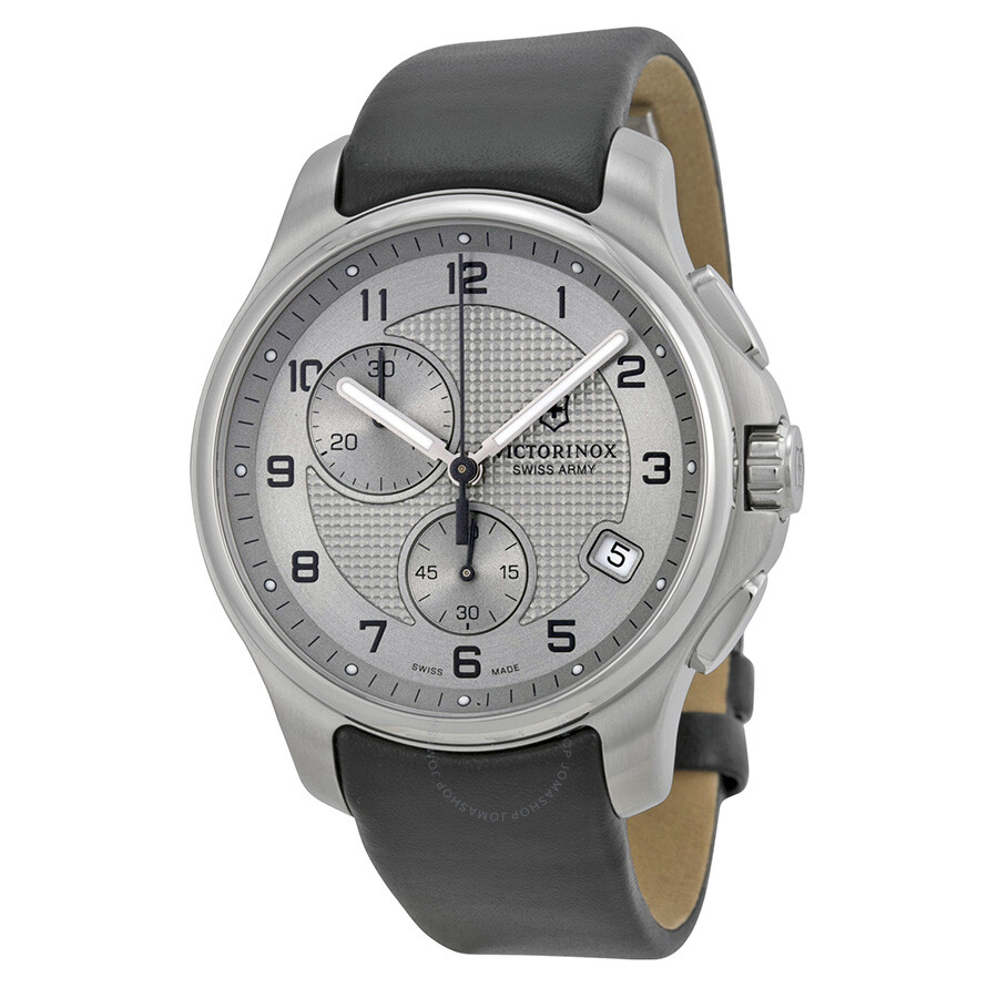 victorinox swiss army officers chronograph grey dial