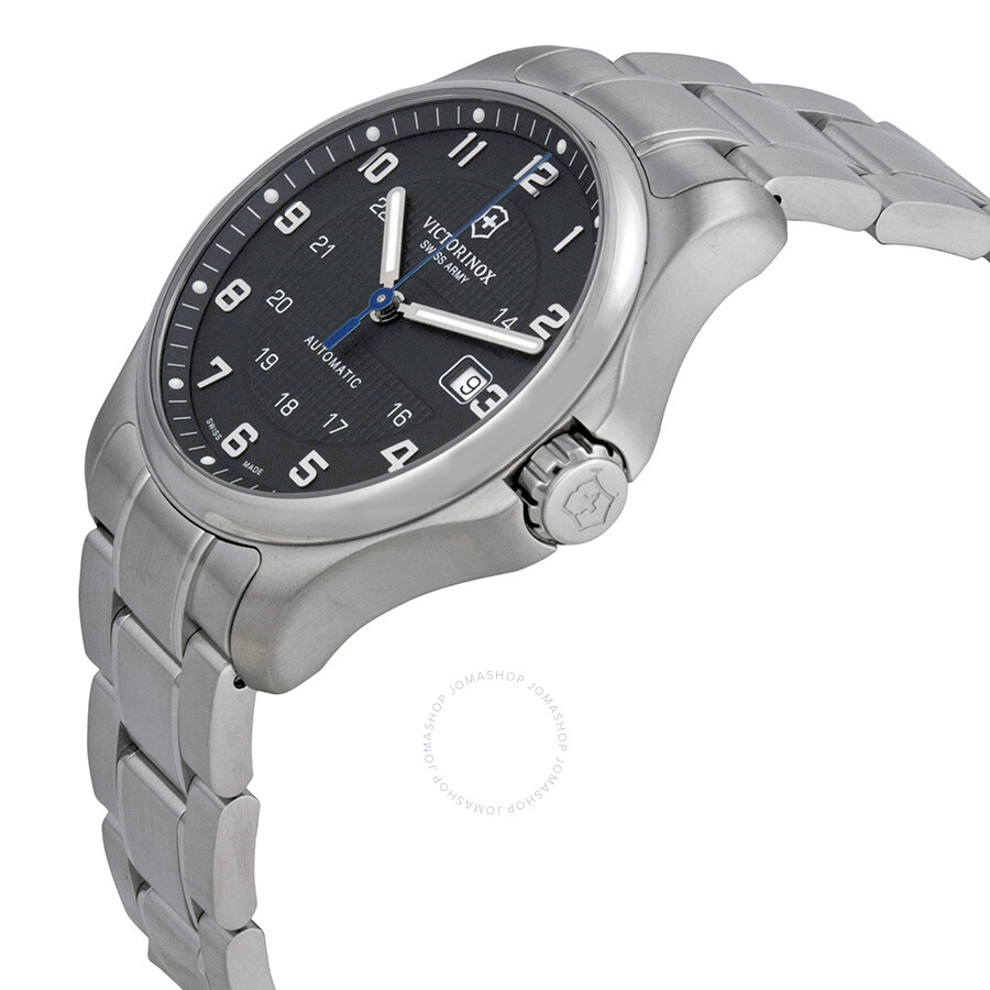 victorinox swiss army officers mechanical black dial