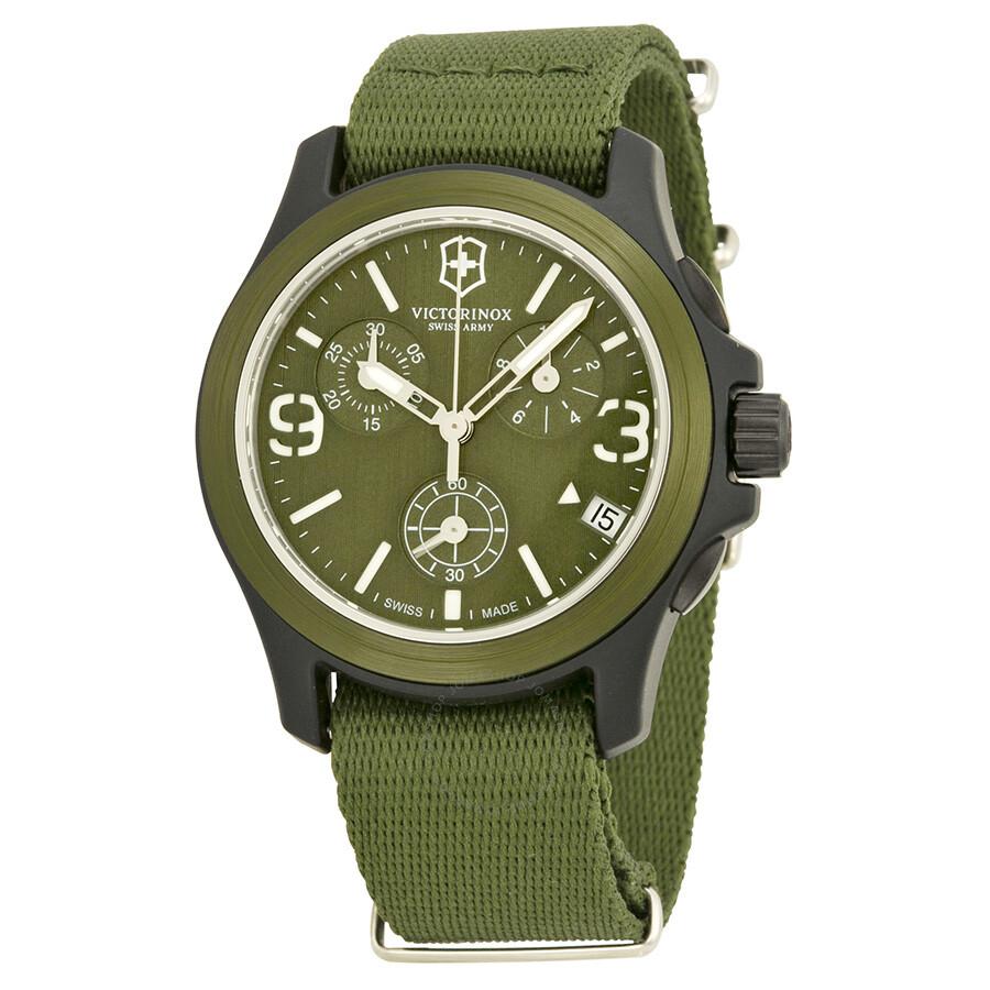 victorinox swiss army original chronograph green