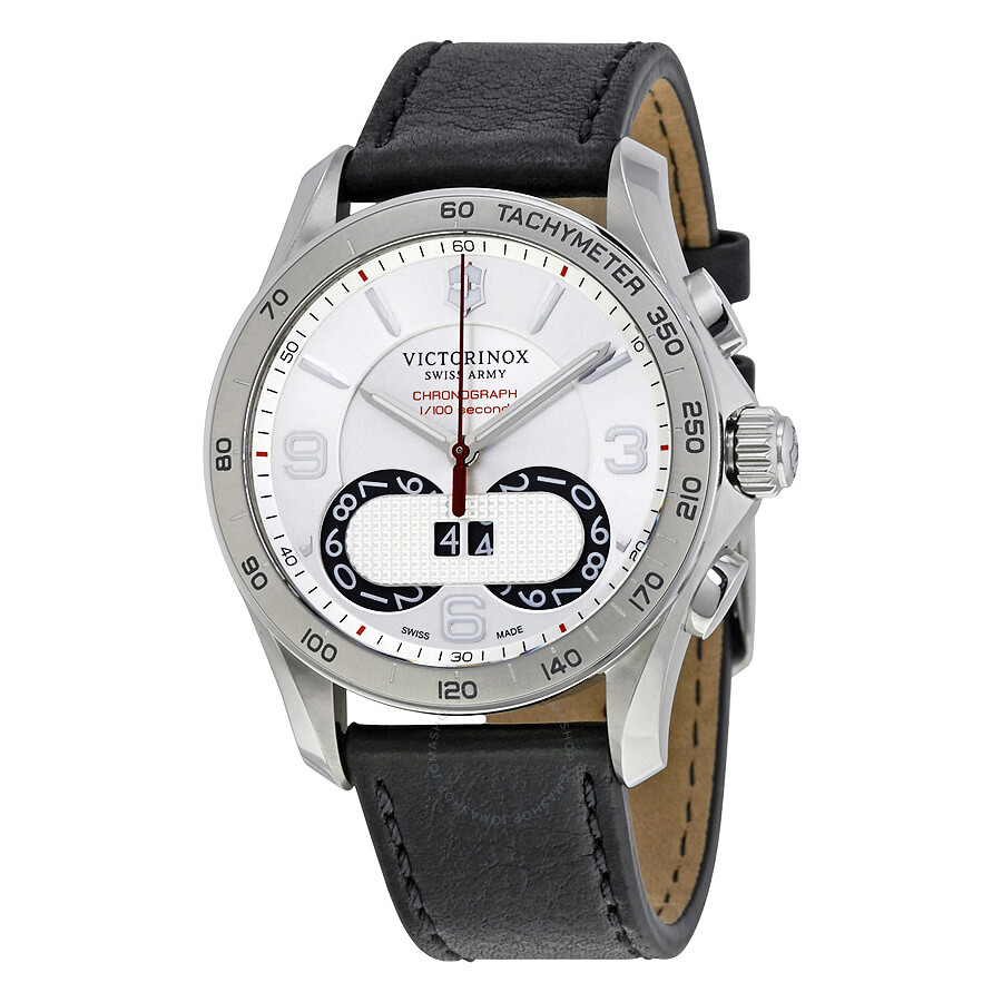 Victorinox swiss army silver dial men 39 s watch 241703 chrono classic victorinox watches for Victorinox watches