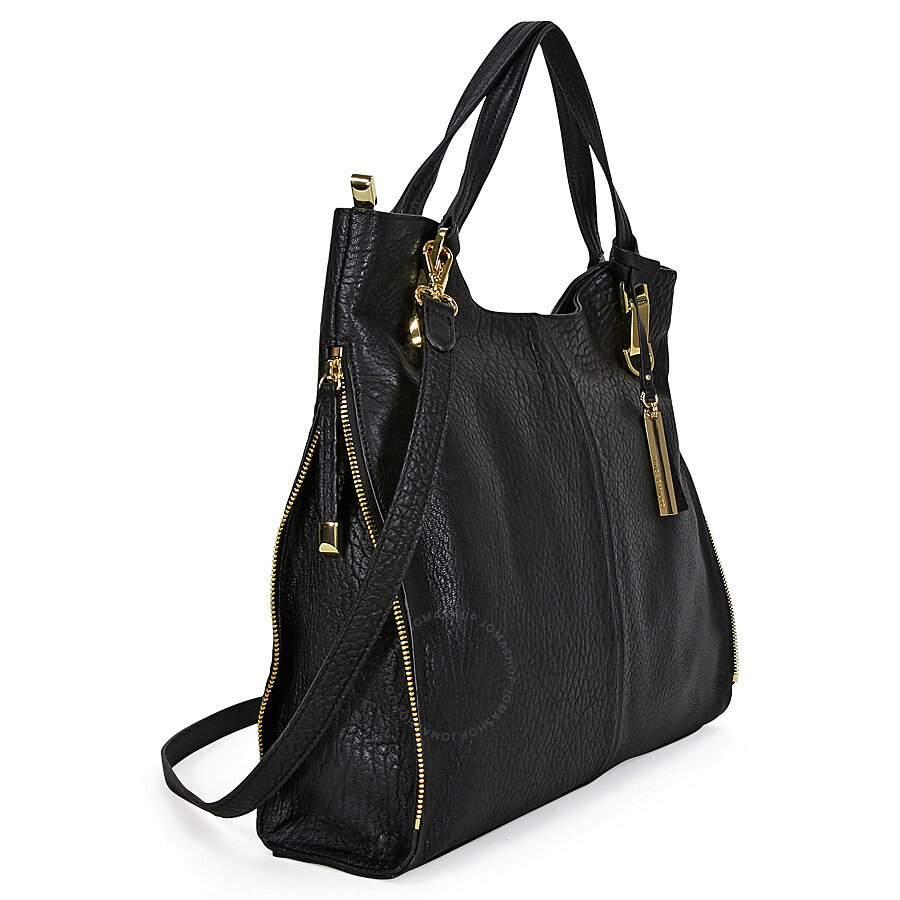 Vince Camuto Riley Bubble Lamb Tote Black