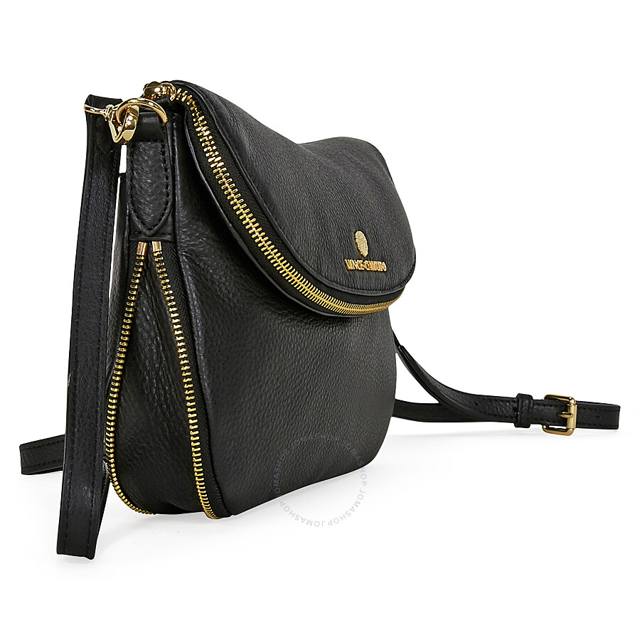 670b29120ef Vince Camuto Rizo Rounded Leather Crossbody Bag - Black - Vince ...