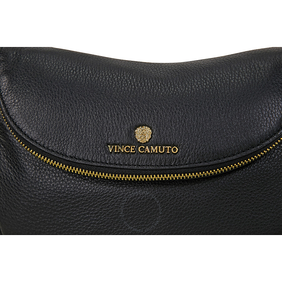 7652c8f77ae Vince Camuto Rizo Rounded Leather Crossbody Bag - Black - Vince ...