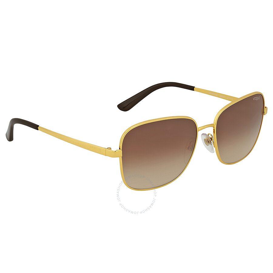 4897294eab9d0 Vogue Square Brown Gradient Sunglasses Vogue Square Brown Gradient  Sunglasses ...