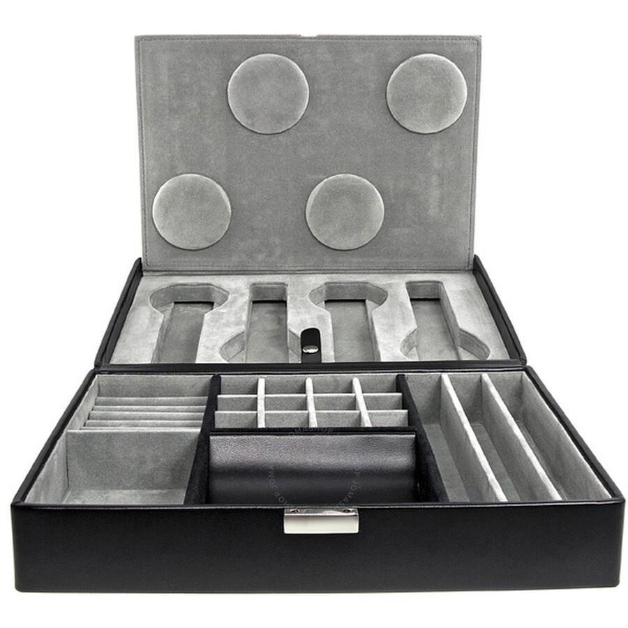 99505 Wolf 4 Piece Travel Watch Box W Valet Model No