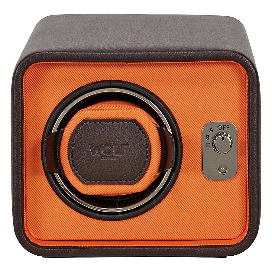Wolf Windsor Brown Orange Single Watch Winder 452406