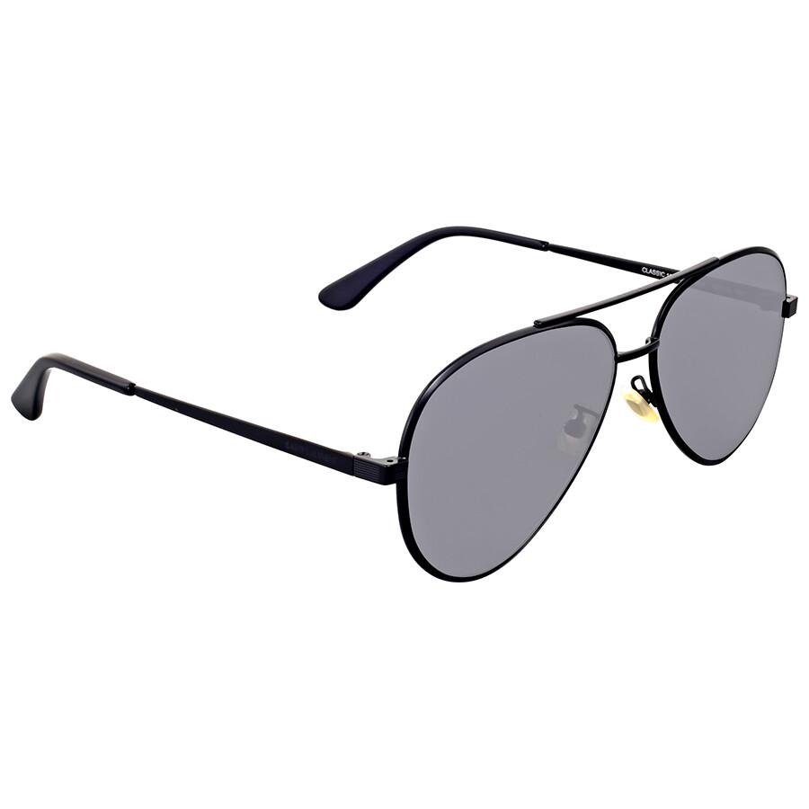 01ee716ae4896 Saint Laurent Black Metal Sunglasses Saint Laurent Black Metal Sunglasses  ...