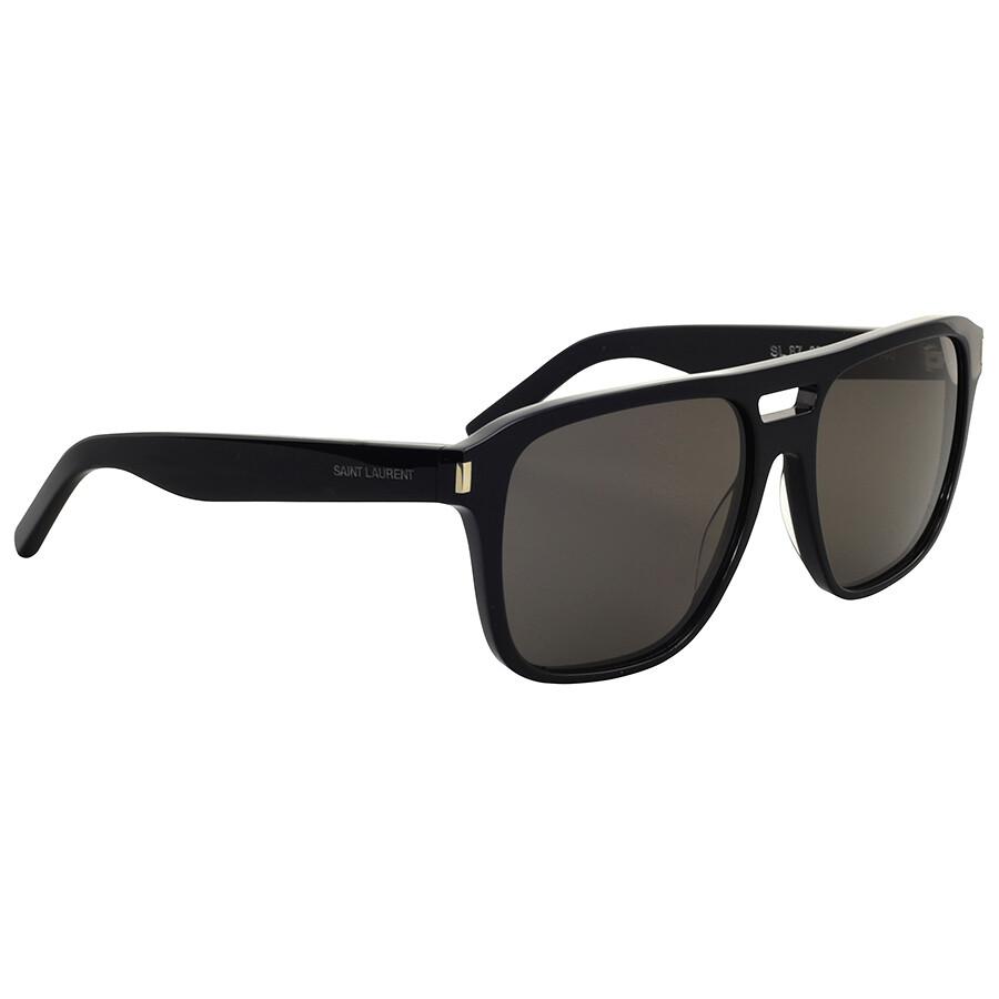 Yves Saint Laurent Black Rectangular Sunglasses