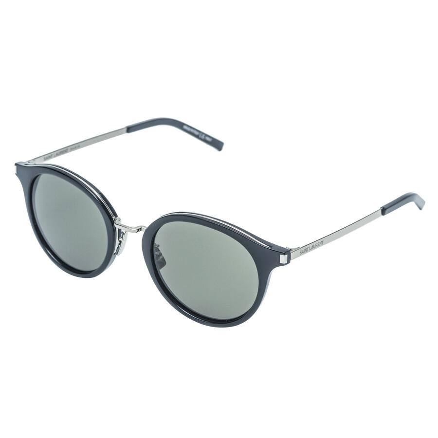 b303519a94e Saint Laurent Black Round Sunglasses - Saint Laurent - Sunglasses ...