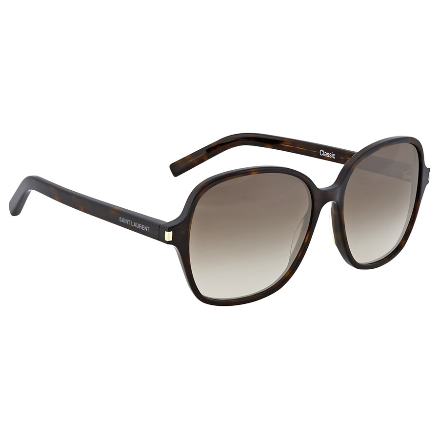 Yves saint laurent brown havanna round sunglasses yves for Miroir yves saint laurent